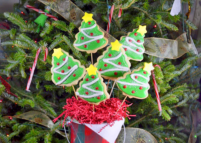 Christmas Tree Cookie Bouquet Recipe