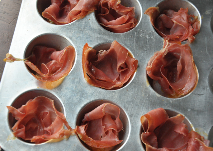 Fig Almond Prosciutto Cups - Step 2