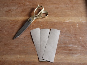 Napkin Rings Placecards DIY - Step 1