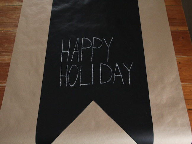 Chalkboard Table Runner DIY