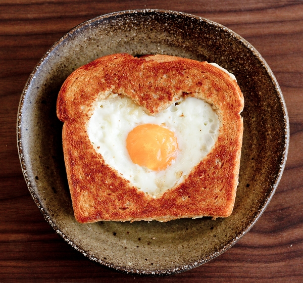 Heart Egg in a Basket