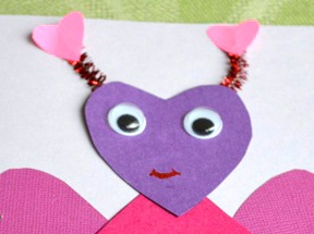 Love Bug Card Craft - Step 12