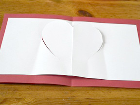 Homemade Heart Pop-Up Card Craft - Step 6