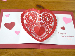Homemade Heart Pop-Up Card Craft - Step 10