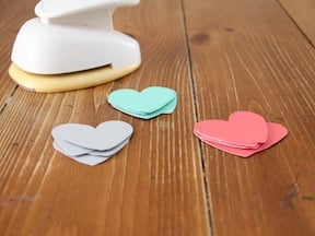 Heart Garkand Craft - Step 1