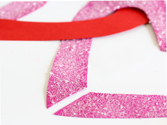 DIY Paper Heart Garland - Step 7