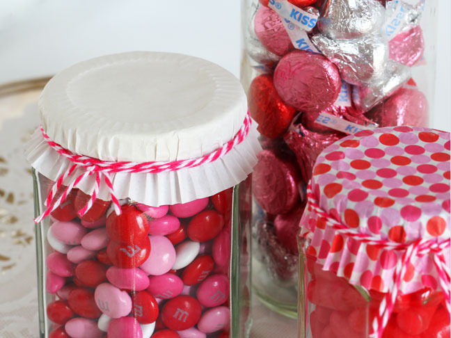 Candy Jar Valentine's Day Gift DIY