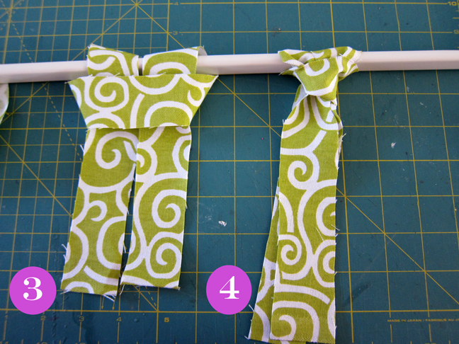 how to tie to knots on your homemade window valance