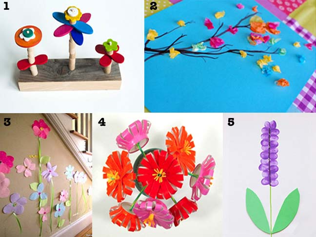 Top 5 spring kid crafts spring flowers paper flower crafts mightylinksfo Choice Image