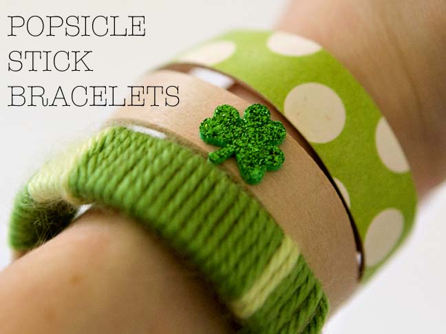 Kid Craft: Bracelets For St. Paddys Day