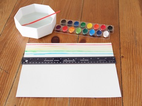 Rainbow Placemat DIY - Step 1