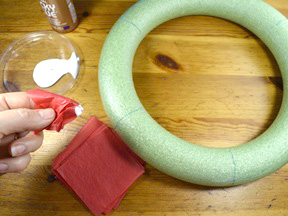 Rainbow Wreath Craft - Step 5