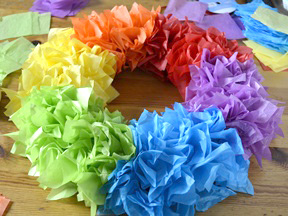 Rainbow Wreath Craft - Step 7