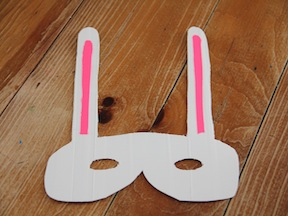 Bunny Mask DIY - Step 6