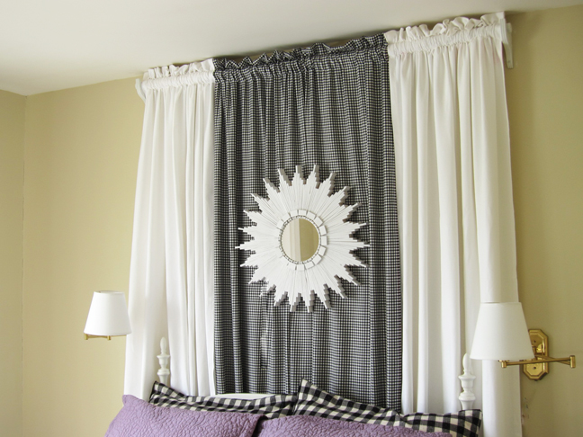 white starburst mirror headboard