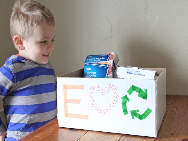Recycling Bin Craft