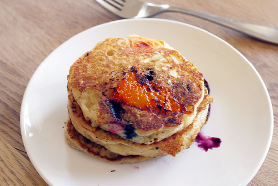 Apricot Blueberry Pancakes Recipe