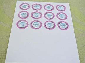 Mother's Day Cupcake Toppers - Step 1