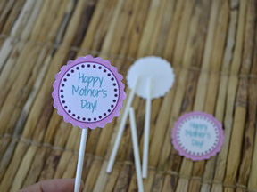 Mother's Day Cupcake Toppers - Step 3A