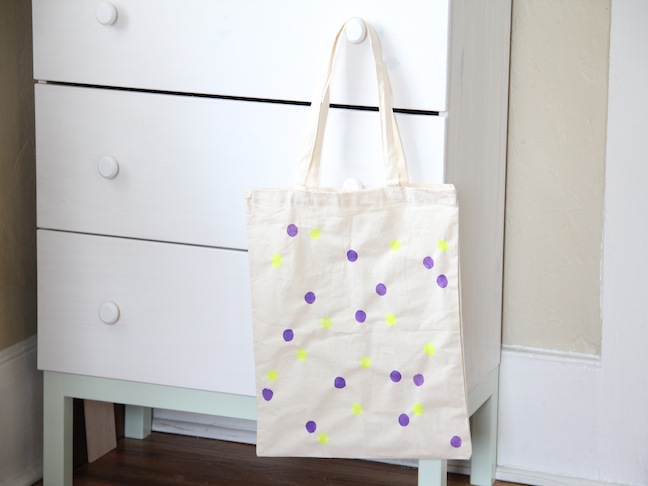 Polka Dot Tote DIY Craft