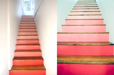 Painted Spectrum Stairs