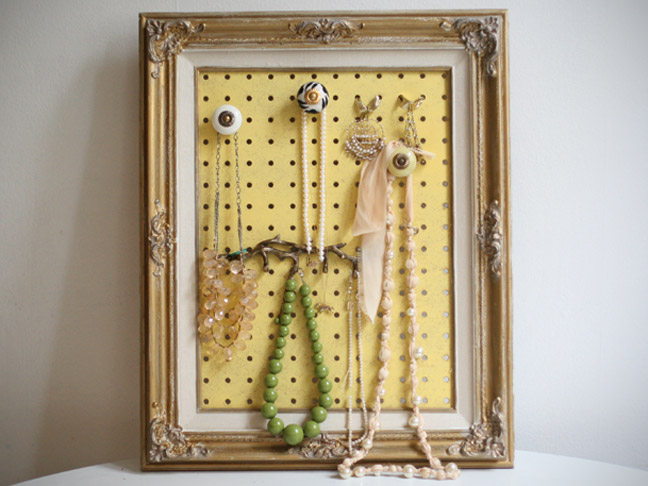 DIY Framed Jewelry Organizer