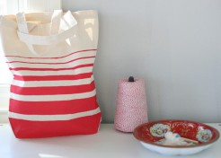 DIY: Fourth of July Striped Tote
