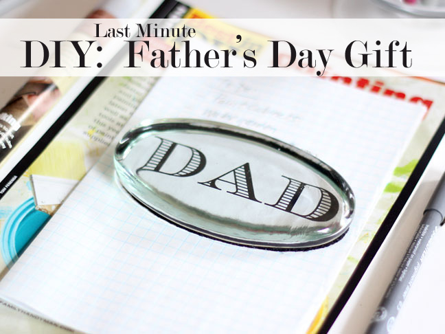 Diy Last Minute Father 39 S Day Gift