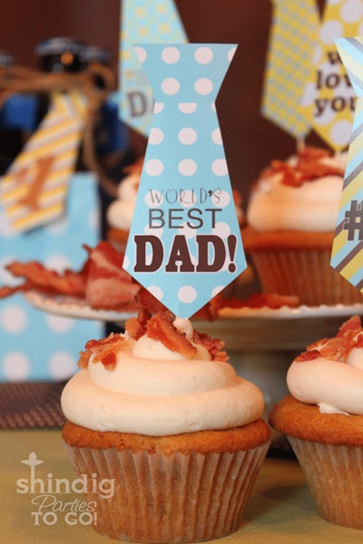 Printable Tie Cupcake Topper - Father's Day