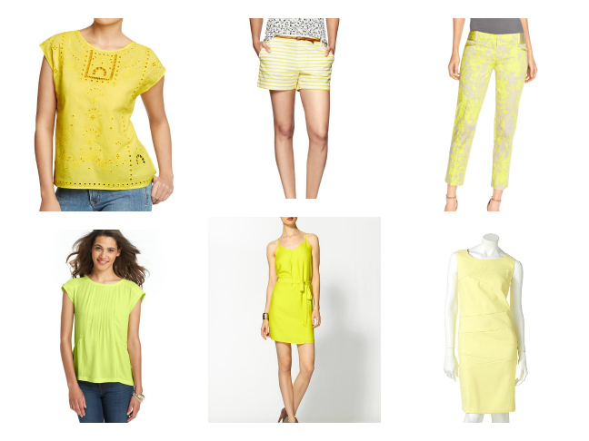 Women's Fashion in Yellow