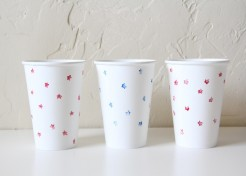 DIY: Star Stamped Cups