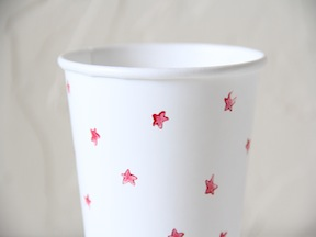 Star Stamped Cups Craft - Step 2
