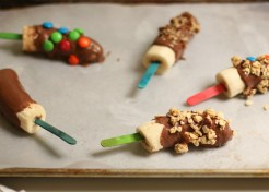 Kids Activity: Chocolate Covered Frozen Banana Pops