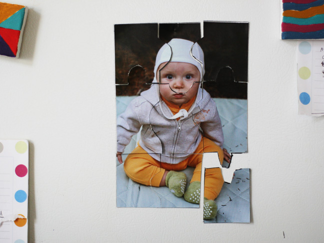 magnet photo puzzle baby