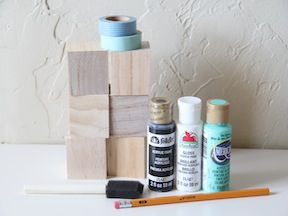 DIY Puzzle Blocks Craft - Materials