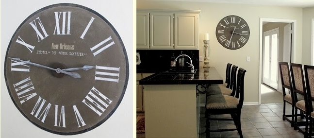 Painted Clock - Home DIYs