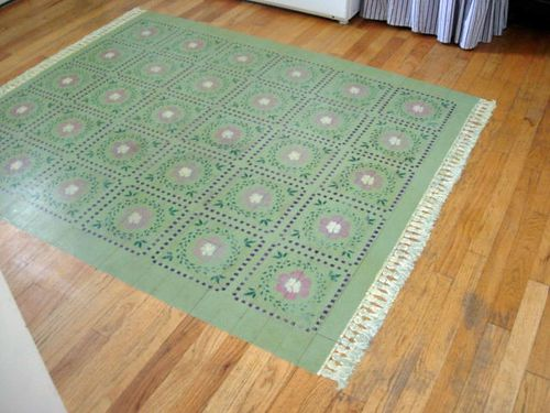 Painted Rug - Home DIYs