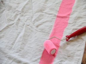 DIY Striped Tablecloth - Step 2
