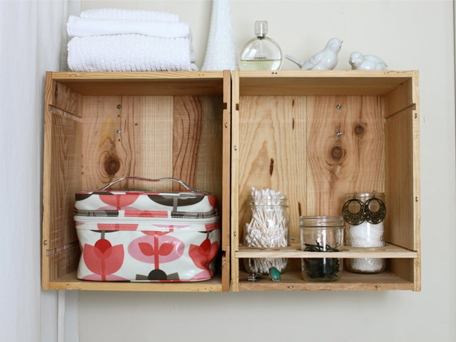 diy crate storage from rachel denbow