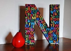 DIY: Hanging Personalized Initials