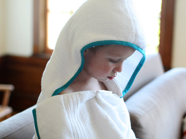 diy holiday gift  handmade hooded towel