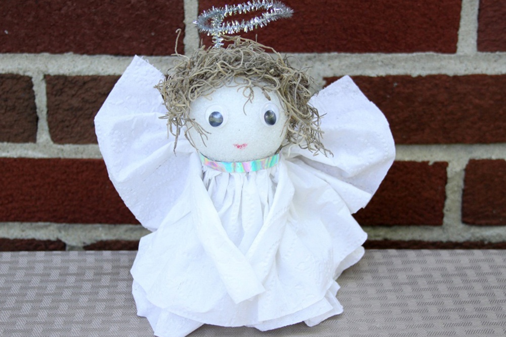 Toilet Paper Angel Craft