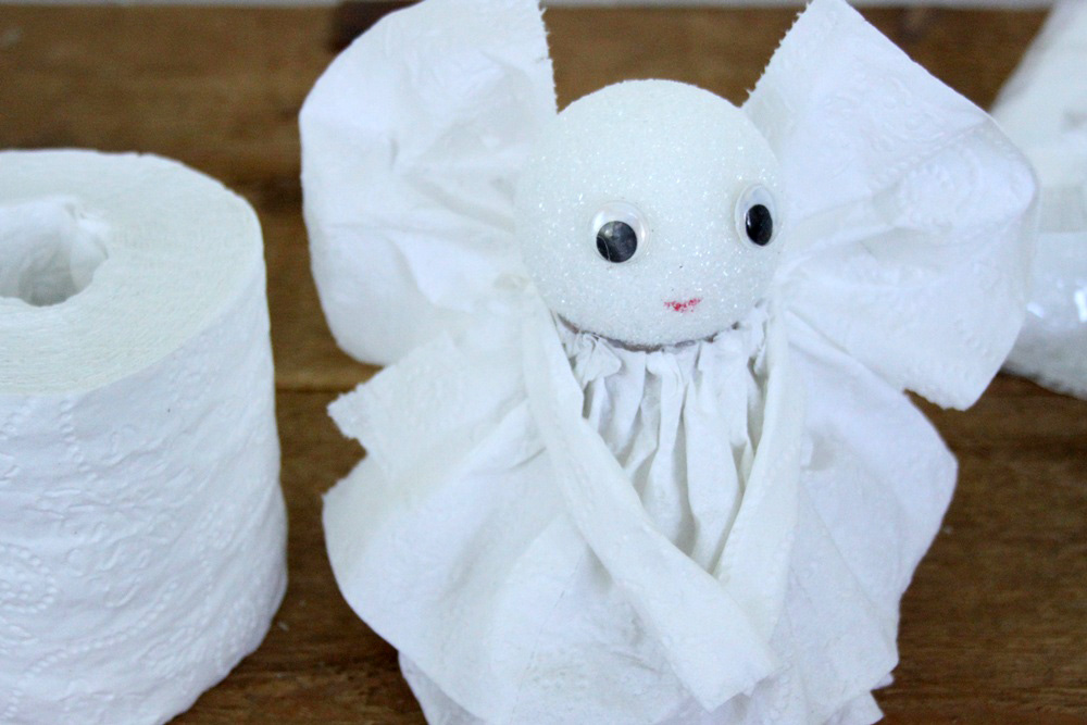 DIY Toilet Paper Angel - Step 9B