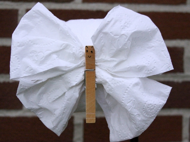 Origami Toilet Papar Butterfly