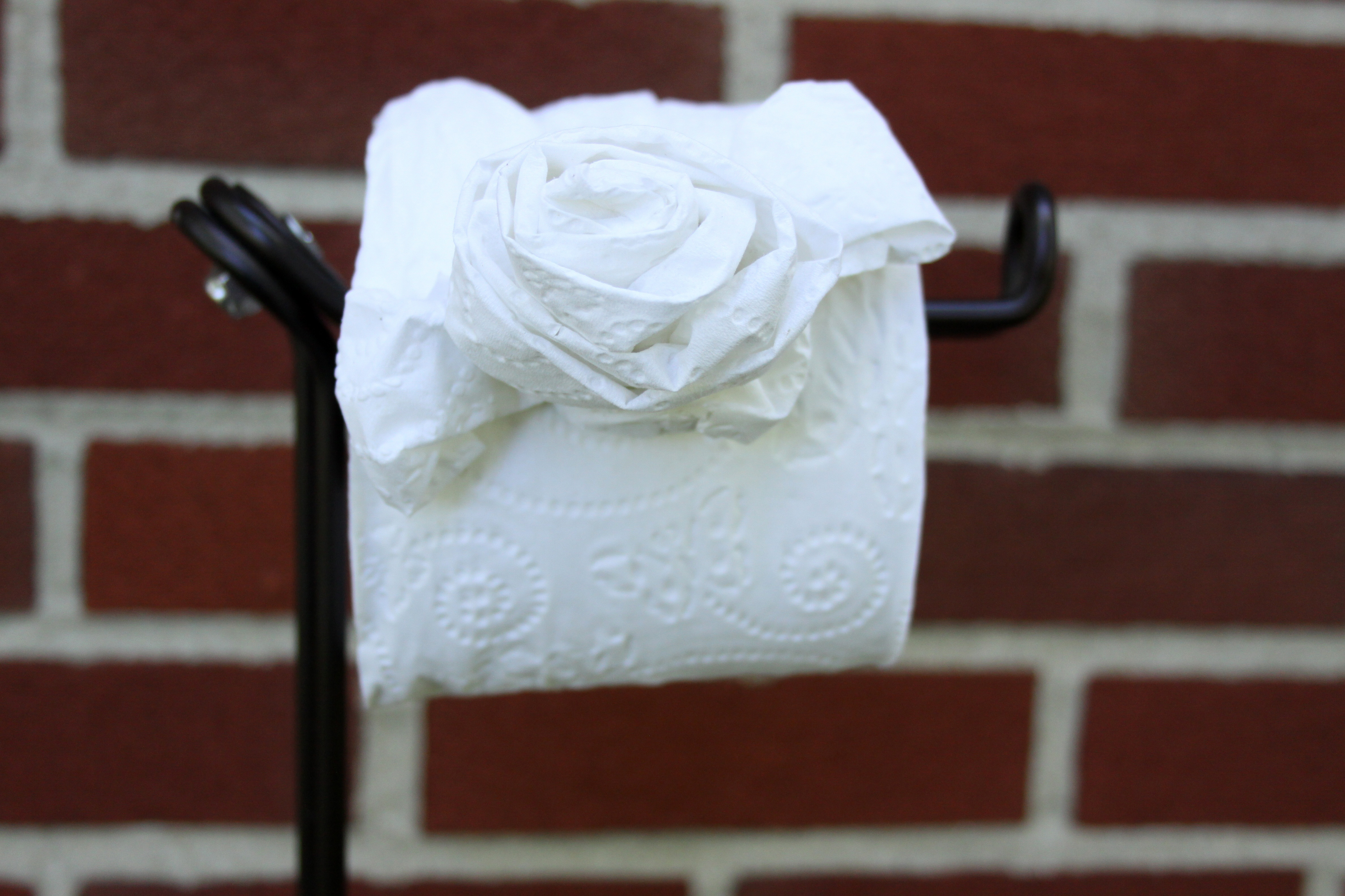 Toilet Paper Origami Rose Craft