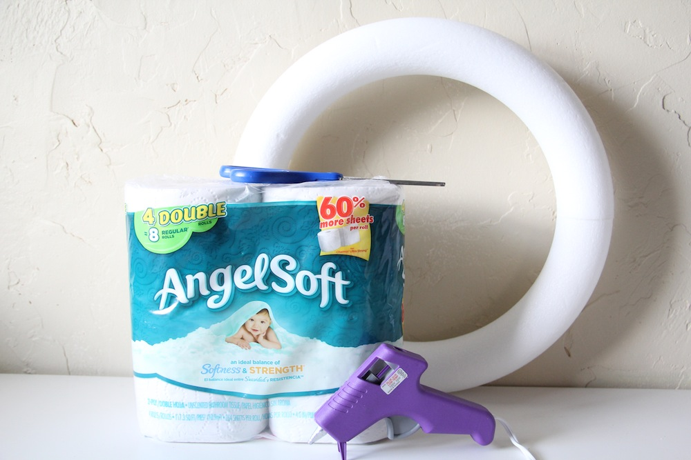 Toilet Tissue Wreath Craft - Materials