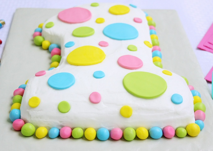 Polka Dot First Birthday Cake Recipe