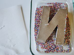 Sprinkle Monogram - Step 3