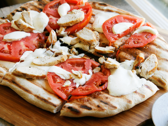 Grilled Chicken Margherita Pizza
