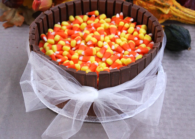 Candy Corn Kit Kat Cake - FINAL 2